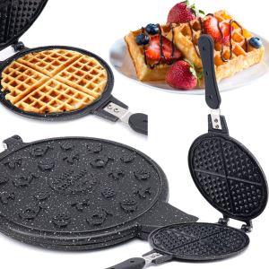 Porsima Döküm Waffle Tavası Bakalit Kulp Siyah