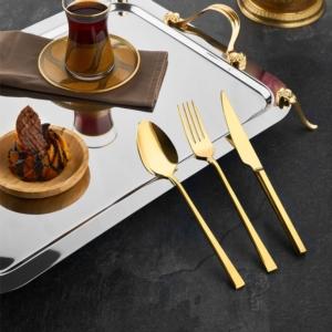 Özlife 90 Parça Titanyum Çatal Kaşık Bıçak Takımı (Sandıklı)- 350