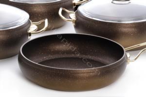 Top Chef 7 Parça Gold Granit Tencere Seti