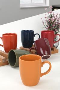 Keramika Mix Kupa 9 Cm 6 Adet