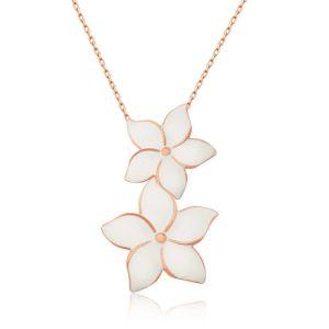 Gümüş Yasemin Çiçekleri Bayan Kolye