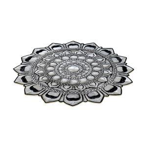 Dekoreko Figürlü Yuvarlak Özel Kesim Halı 115 Gümüş