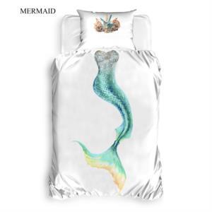 The Club Cotton 3D Baskılı Tek Kişilik Nevresim Takımı Mermaid