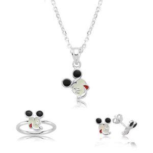 Gümüş Miki Mouse Çocuk Seti