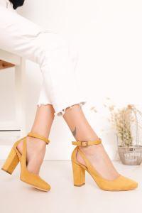 Moda Eleysa Lillian Topuklu Süet Ayakkabı MODAELYSA0973