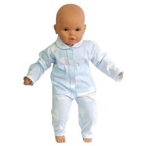 Mavi Beyaz Lekeli 2 li Erkek Bebek Takım (Ayaksız)