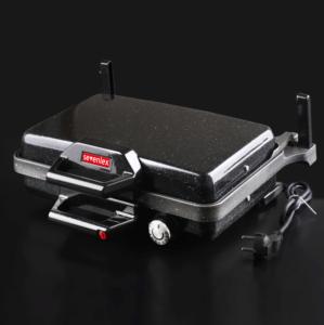 Sevenlex Inox Metal Turbo Grill Granit Bazlama Tost ve Lahmacun Makinesi Siyah Sev003