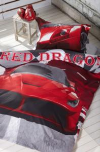Soley Tek Kişilik Red Dragon Kırmızı Ranforce Complete Set