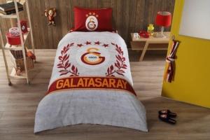 Taç 3607 Lisanslı Brf Tek Kişilik Nevresim Takımı Galatasaray Grey