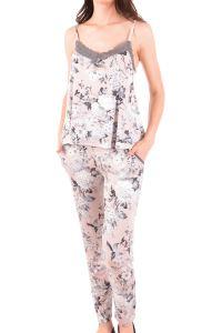 Nicoletta Kadın Pijama Takımı İp Askılı Cepli Viskon