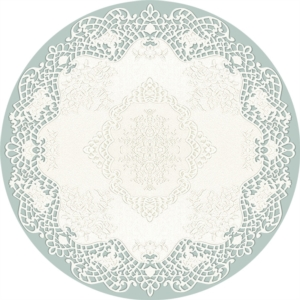 Decovilla Halı Dantel Mavi 11003-103