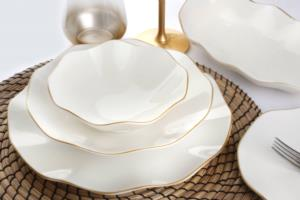 Güral Porselen 26 Parça Nesrin Gold Bone Yemek Seti
