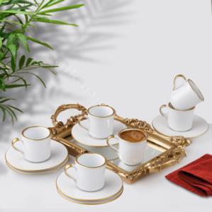 Fatih 6 Parça Seramik Kahve Fincanı Beyaz