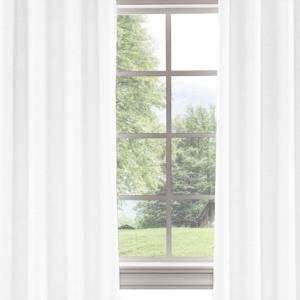 Belle Cose Keten Görünümlü Tek Kanat Beyaz Fon Perde