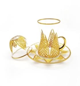 Özcam Kristal 18 Parça Kesme Dekorlu Çay Takımı- D-1648
