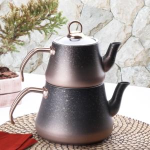 Oms Aile Boy Granit Çaydanlık 8200 Bakır
