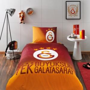 Taç Tek Kişilik Galatasaray 4. Yıldız Lisanslı Ranforce Nevresim Takımı
