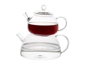 Tantitoni Borosilikat Cam Çaydanlık Takımı 810Ml 1350Ml BELLA DG460ABM