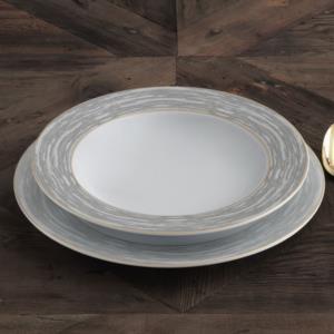 Güral Porselen 84 Parça Yuvarlak Tolstoy Yemek Takımı Bantlı AU 55911 AU