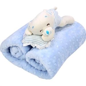 İpekçe Home Tomurcuk Bebek Battaniye Mavi