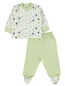 Civil Baby Erkek Bebek Pijama Takımı 0-6 Ay Yeşil