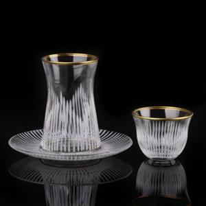 Özcam Kristal 18 Parça Çay Takımı D-1706