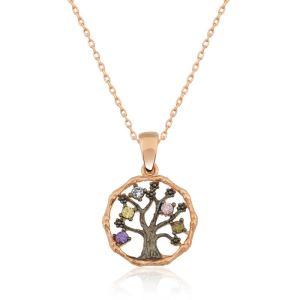 Gümüş Küçük Hayat Ağacı Bayan Kolye