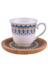Bambum Kallavi 6 Kişilik Kahve Takımı Desen Altlıklı B0924