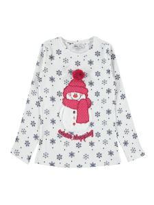 Cvl Kız Çocuk Sweatshirt 6-9 Yaş Ekru