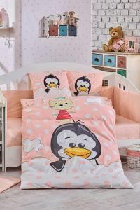 Hobby Ranforce Bebek Nevresim Takımı Penguin Somon