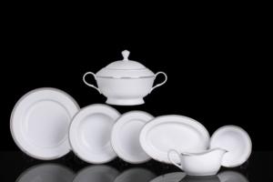 Sevenly 85 Parça Platin Porselen Yemek Takımı AL-13 XMP