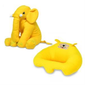 Prado Bebek Destek Minderi Uyku Arkadaşı Fil Yastık Seti Sarı
