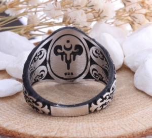 Işık Silver Gümüş Teşkilatı Mahsusa Erkek Yüzük SVR45