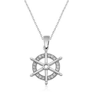 Gümüş Gemi Dümeni Kolye