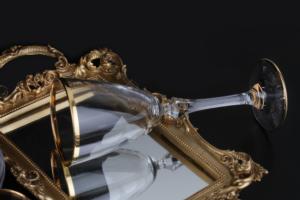 Çınar Kristal 31 Parça 5mm Altın Renk Bantlı Cam Set