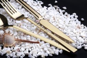 Özlife Hüma Gold 72 Parça Çatal Kaşık Bıçak Takımı- 397