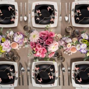 Karaca Fine Pearl Unique 62 Parça 12 Kişilik İnci Yemek Takımı Kare