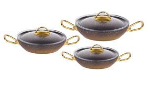 Oms Granit 6 Parça Yumurta Sahanı 3032 Gold