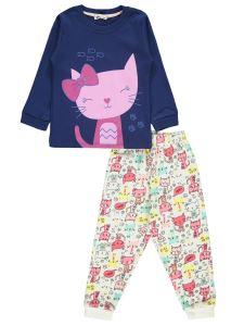 Civil Girls Kız Çocuk Pijama Takımı 2-5 Yaş Lacivert
