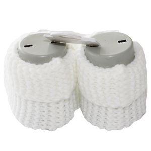 Papyonlu Beyaz Triko Patik 0-6 Ay