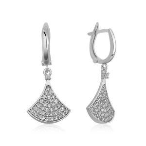 Gümüş Klasik Bayan Küpesi
