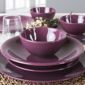 Keramika Mor Yemek Takımı 24 Parça 6 Kişilik
