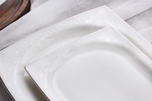 Sevenly 60  Parça Kare Bone Yemek Takımı BYZ21 Platin