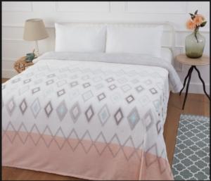 Özdilek Çift Kişilik Soft Baskılı Battaniye PVC Bettina
