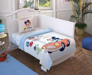 Taç 3576 Lisanslı Bebek Pike Takımı Mickey Mouse Sweet Baby