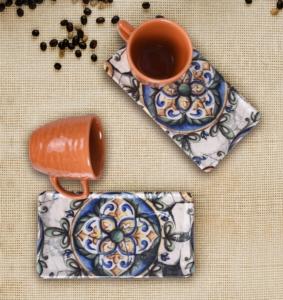 Keramika 4 Parça İspanyol ikramlık Kahve Seti-18500