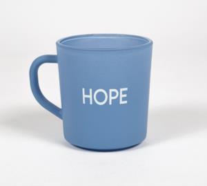 Rakle Motto Hope Cam Kupa Bardak Mavi