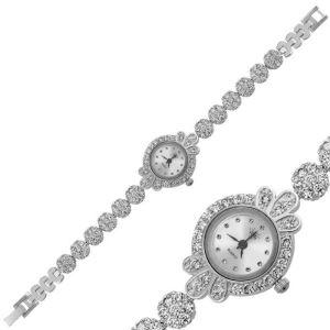 Gümüş Zirkon Taşlı Bayan Saat