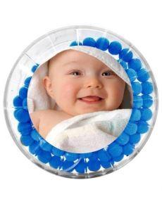 Gül Kokulu Tesbih - Erkek Çocuğuna Özel - Resim Baskılı - Mavi Renk - Bebek Mevlidi Hediyeliği