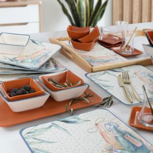 Keramika Lina Brown Kahvaltı Takımı 33 Parça 6 Kişilik